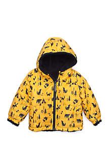 Baby Boys Yellow Reversible Sherpa Jacket