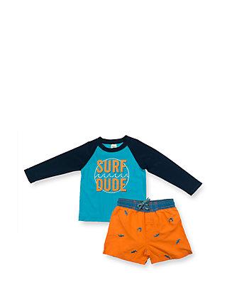 69a9874fae OshKosh B'gosh® 2-Piece Surf Dude Rashguard Set Toddler Boys | belk