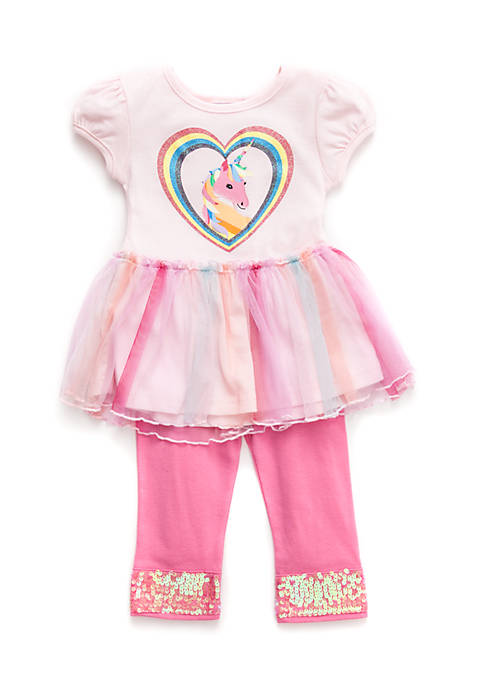Blueberi Boulevard Infant Girls Unicorn Tutu Set