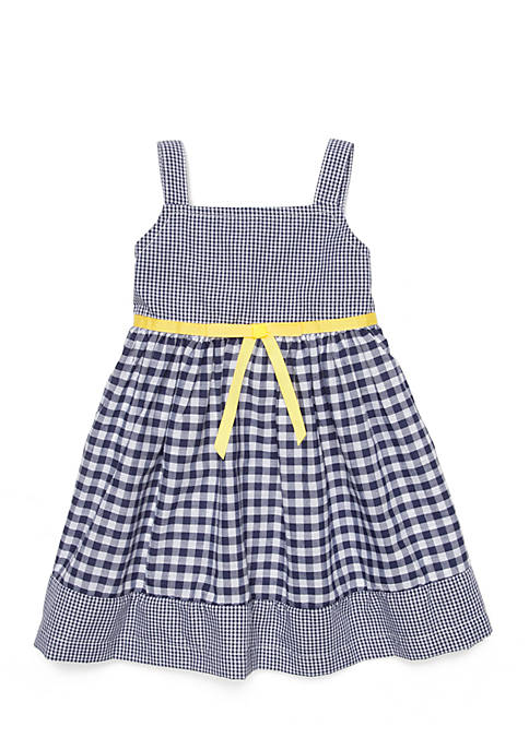Blueberi Boulevard Girls Infant Print Check Dress