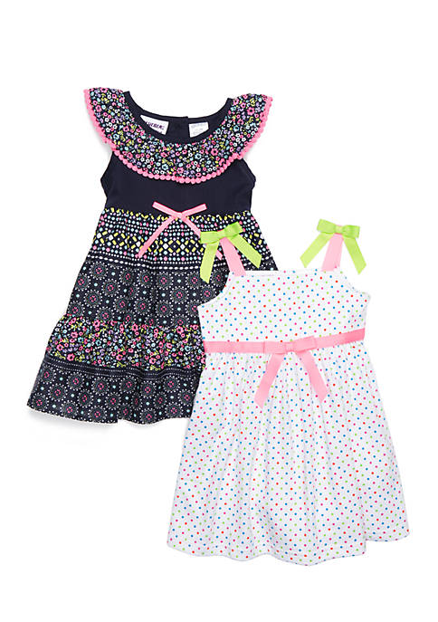 Blueberi Boulevard Infant Girls Set of 2 Printed