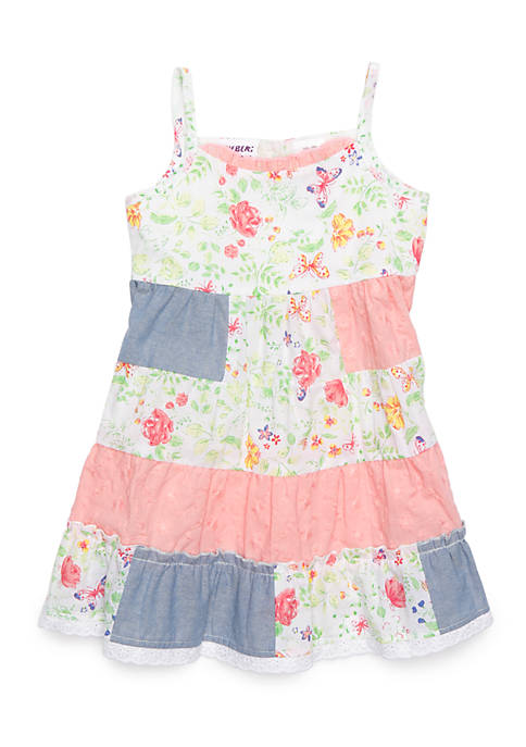 Blueberi Boulevard Infant Girls Patch Floral Sundress