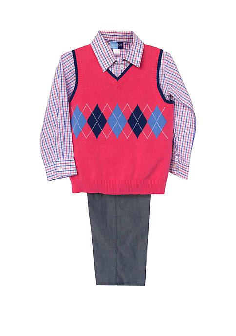 Good Lad Toddler Boys 3 Piece Sweater Vest