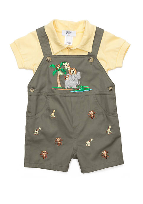 Baby Boys Noahs Ark Shortall Set