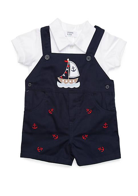 Baby Boys Nautical Shortall Set