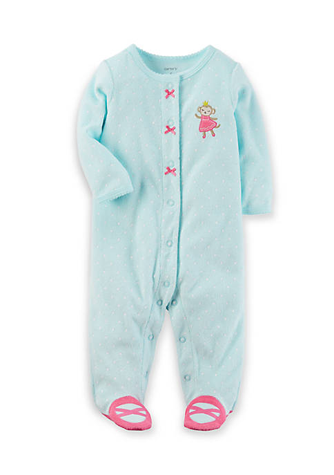 Carter's® Monkey Snap-Up Cotton Sleep & Play