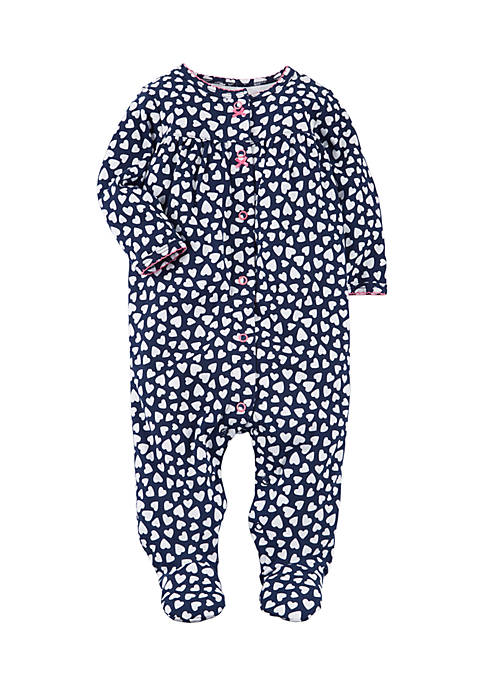 Carter's® Girls Infant Snap-Up Heart Cotton Sleep &