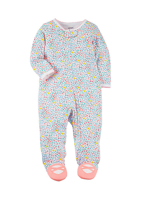 Carter's® Girls Infant Snap-Up Floral Cotton Sleep &