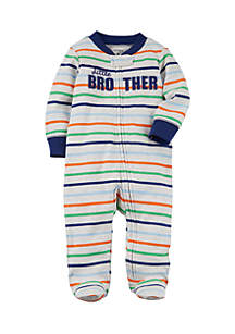 Boys Infant Zip-Up Little Brother Cotton Sleep & Play