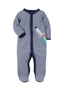 Boys Infant Snap-Up Rocket Cotton Sleep & Play