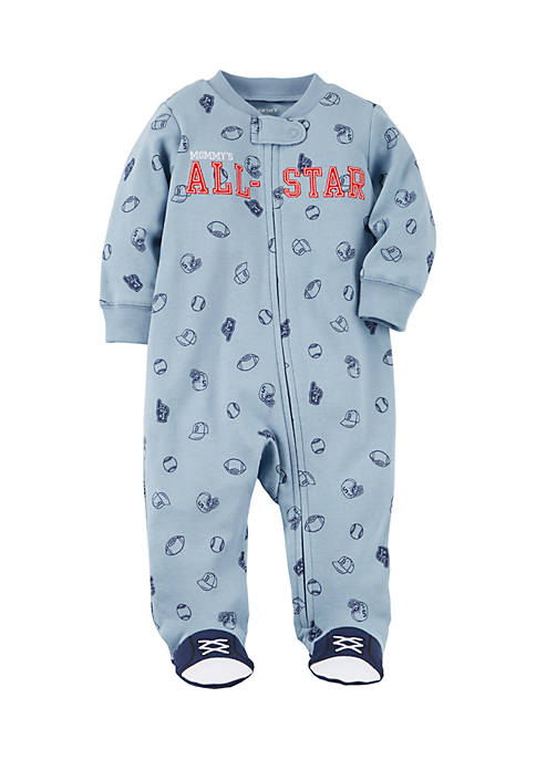Carter's® Boys Infant Zip-Up All-Star Cotton Sleep &