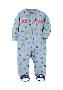 Boys Infant Zip-Up All-Star Cotton Sleep & Play