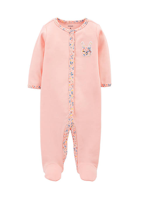 Carter's® Newborn Girls Bunny Snap-Up Cotton Sleep &