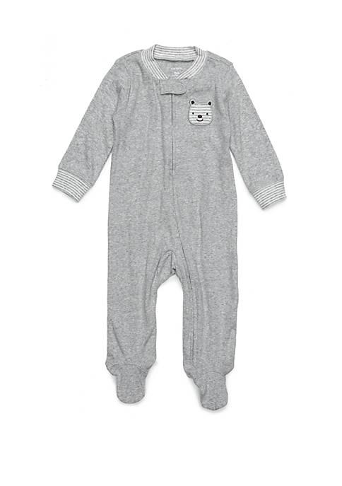 10e67997a Carter s® Baby Boys Rib Grey Heather Footie