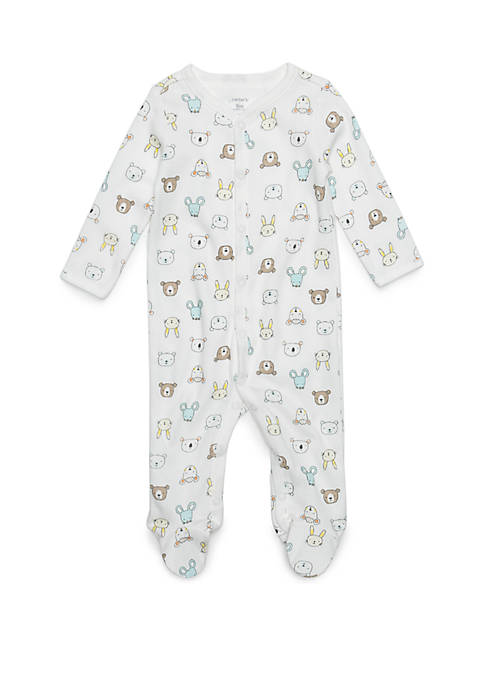 Carter's® Baby Boys Thermal Animal Print Footie