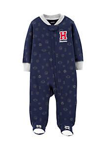 Boys Newborn All Star Zip-Up Cotton Sleep & Play