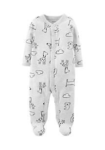 Boys Newborn Animal Snap-Up Cotton Sleep & Play