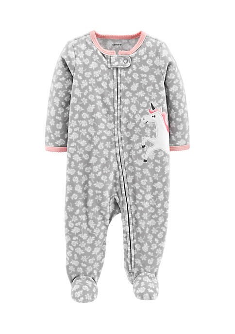 Carter's® Infant Girls Zip-Up Fleece Sleep And Play