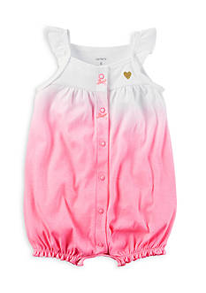 Carter's® Faded Heart Snap-Up Cotton Romper