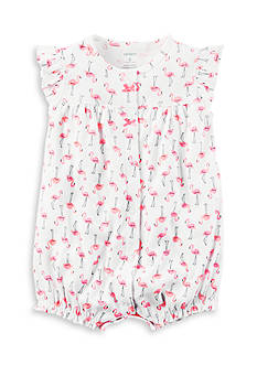 Carter's® Pink Flamingo Snap-Up Romper