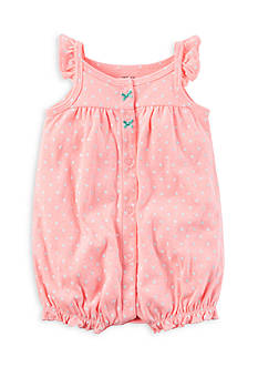 Carter's® Pink Dot Snap-Up Neon Romper