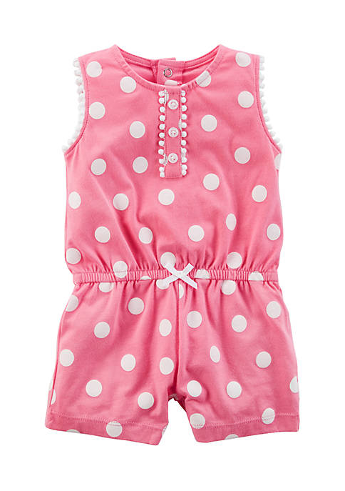 Carter's® Girls Infant Polka Dot Romper