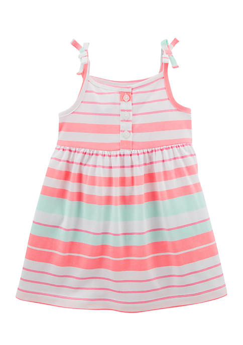 Carter's® Smocked Jersey Dress Infant Girls