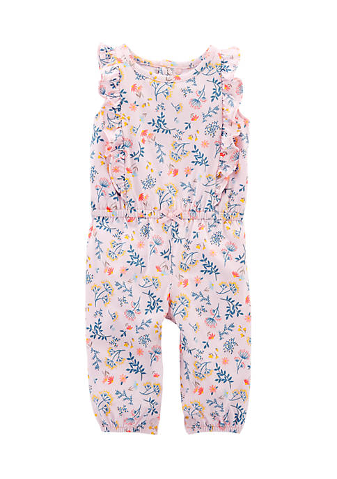 Carter's® Infant Girls Floral Flutter Jumpsuit