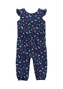 Infant Girls Bird Flutter Jumpsuit