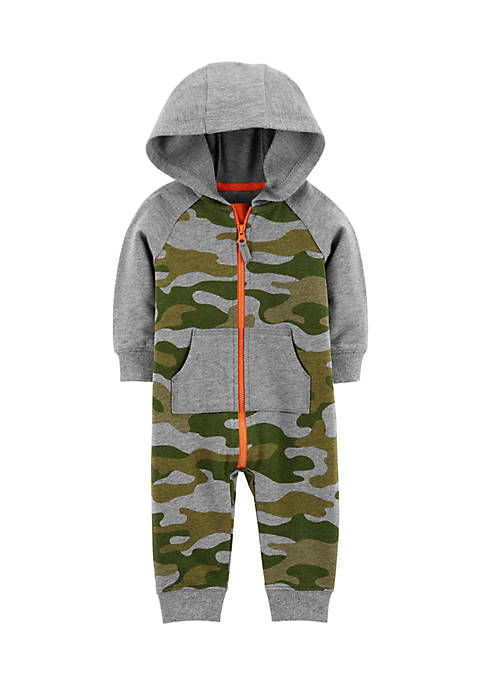 Carter's® Infant Boys Camo Hooded Jumpsuit