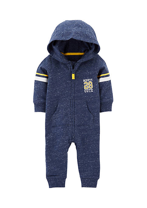 Carter's® Infant Boys Mighty Cute Hooded Jumpsuit
