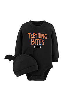 Infant Boys 2-Piece Halloween Bodysuit and Cap Set
