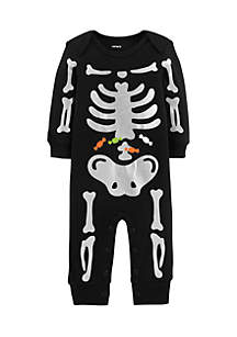 Infant Boys Halloween Skeleton Jumpsuit