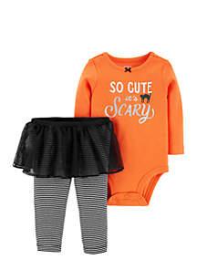 Girls Infant 2-Piece Halloween Bodysuit & Tutu Pant Set
