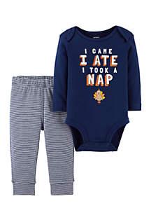 Infant Boys 2-Piece Thanksgiving Bodysuit Pant Set