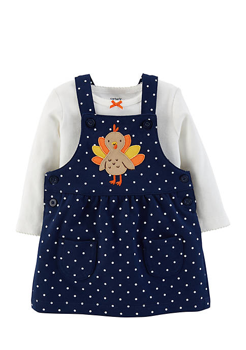Carter's® Girls Infant 2-Piece Thanksgiving Tee and Jumper