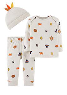 Infant Boys 3-Piece Thanksgiving Set