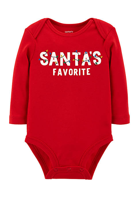 Carter's® Infant Boys Santas Favorite Collectible Bodysuit