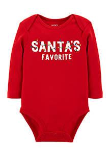 Infant Boys Santa's Favorite Collectible Bodysuit