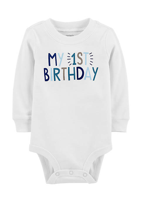 Carter's® Infant Boys Long Sleeve First Birthday Bodysuit