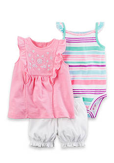 Carter's® 3-Piece Neon Bubble Shorts Set