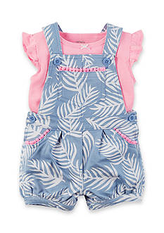 Carter's® 2-Piece Neon Top and Shortalls Set