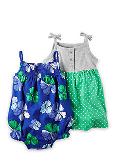 Carter's® 3-Pack Bodysuit, Dress and Diaper Cover Set