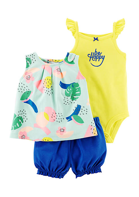 Carter's® Girls Newborn 3-Piece Little Shorts Set