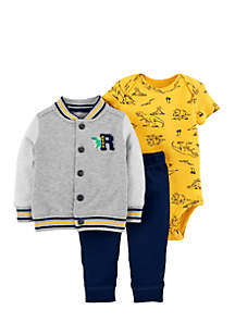 Carter's® Boys Infant 3-Piece Dinosaur Little Jacket Set