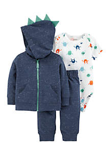 Boys Infant 3-Piece Monster Little Jacket Set