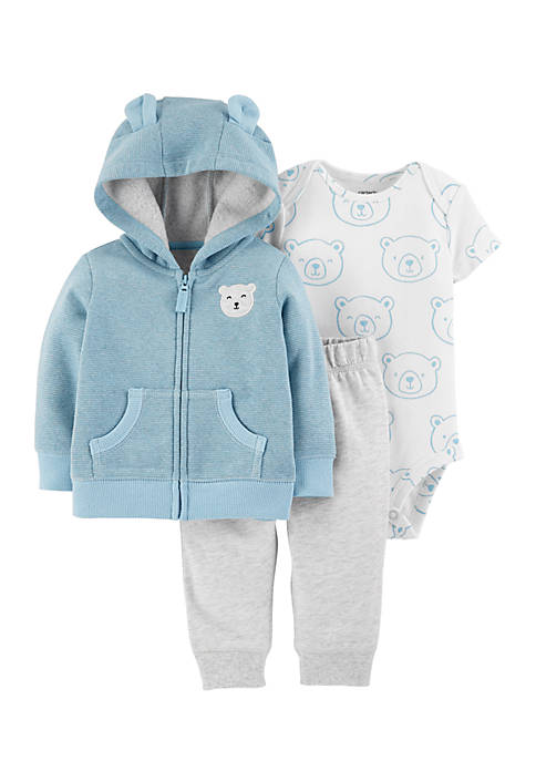 Carter's® Newborn Boys 3-Piece Bear Little Jacket Set