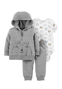 Newborn Boys 3-Piece Little Jacket Set