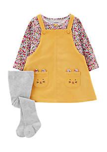 Infant Girls 3-Piece Corduroy Jumper Set