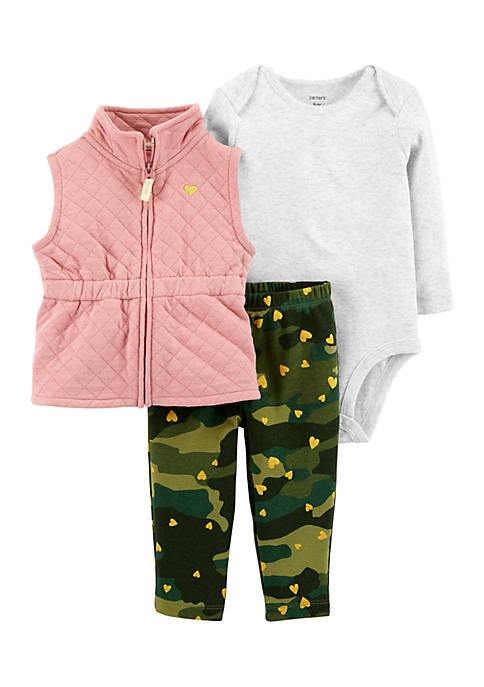 Carter's® Girls Infant 3-Piece Little Vest Set